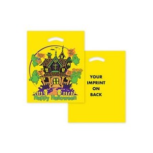 Halloween Stock Design Yellow Die Cut Bag � Haunted House (12